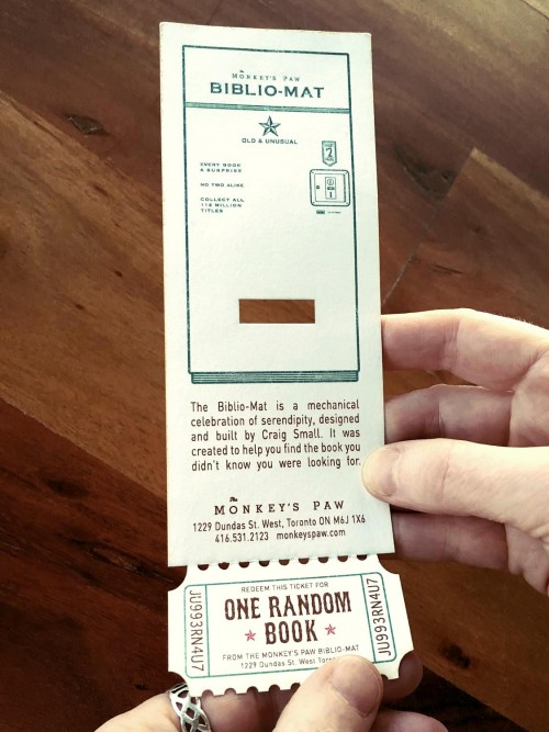 Laser cut bookmark (with tear away coupon)