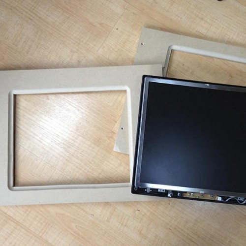 old LCD monitor and bezel