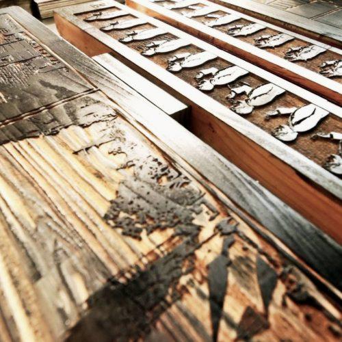 Maple and cedar wood blocks