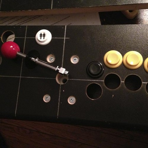buttons and joystick